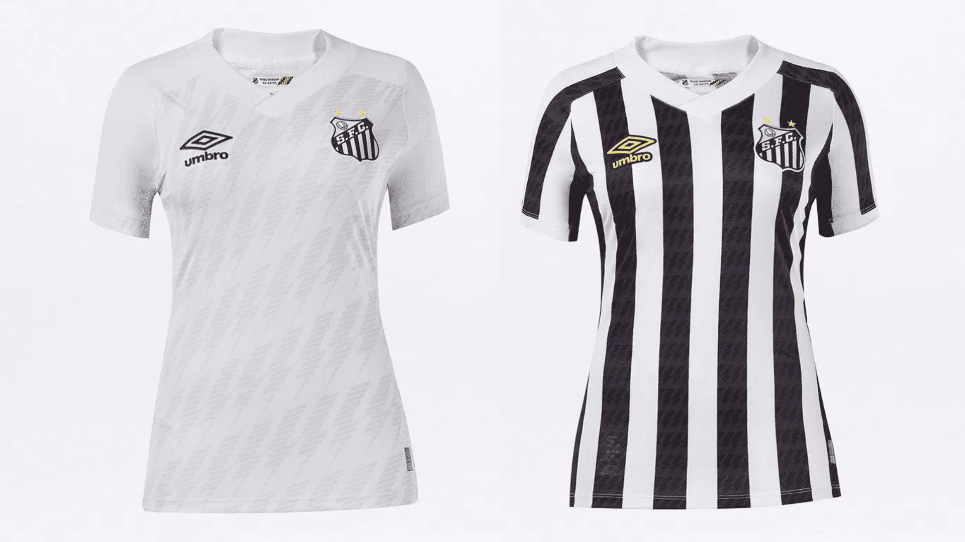 Camisa do Santos Feminina 2021 Umbro Jogo 1 e 2 (Imagem: Divulgação/Umbro)