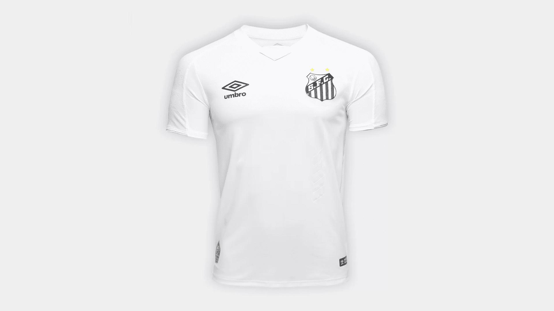 Camisa do Santos 2019 Umbro Jogo 1 (Imagem: Divulgação/Umbro)