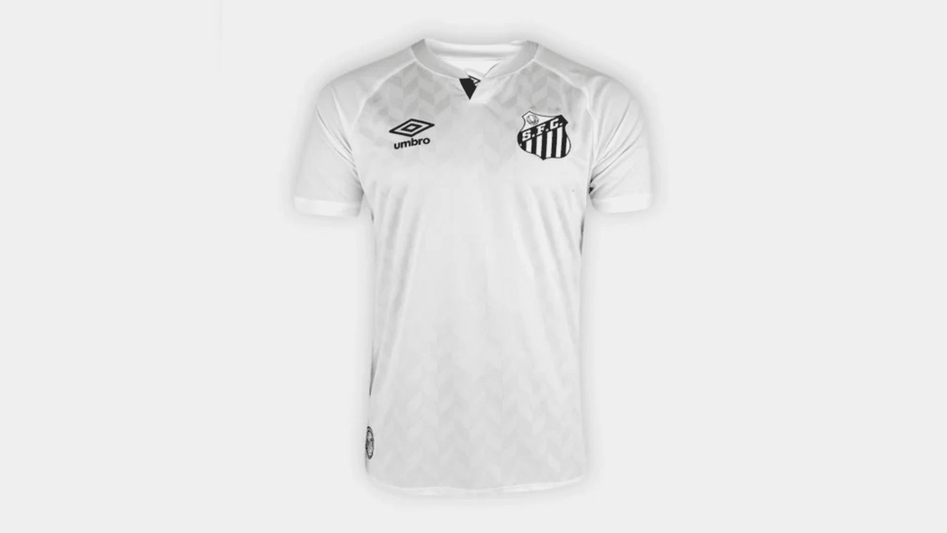 Camisa do Santos 2020 Umbro Jogo 1 (Imagem: Divulgação/Umbro)