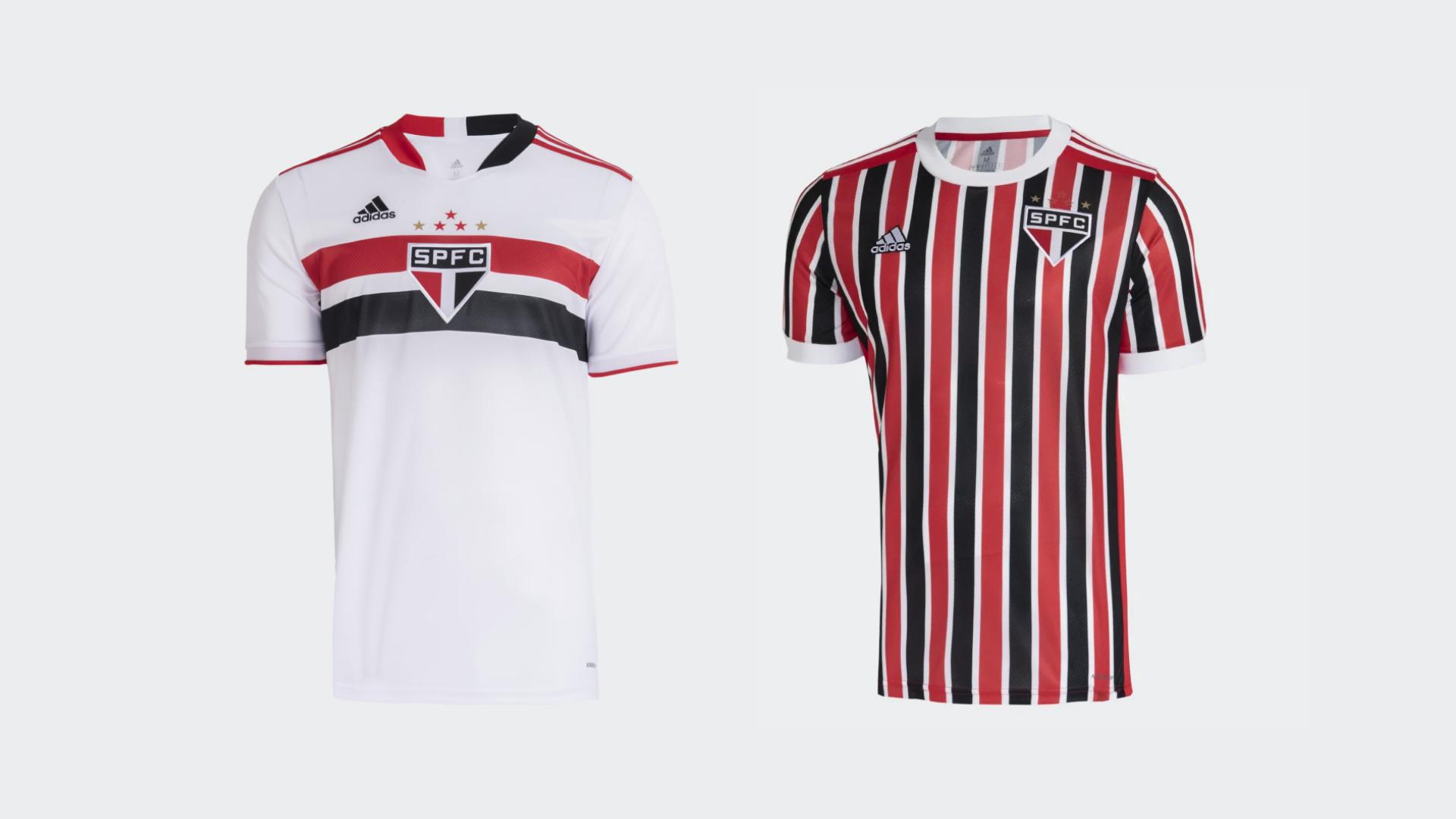 Camisa do São Paulo 2021 Adidas Jogo 1 e 2 (Imagem: Divulgação/Adidas)