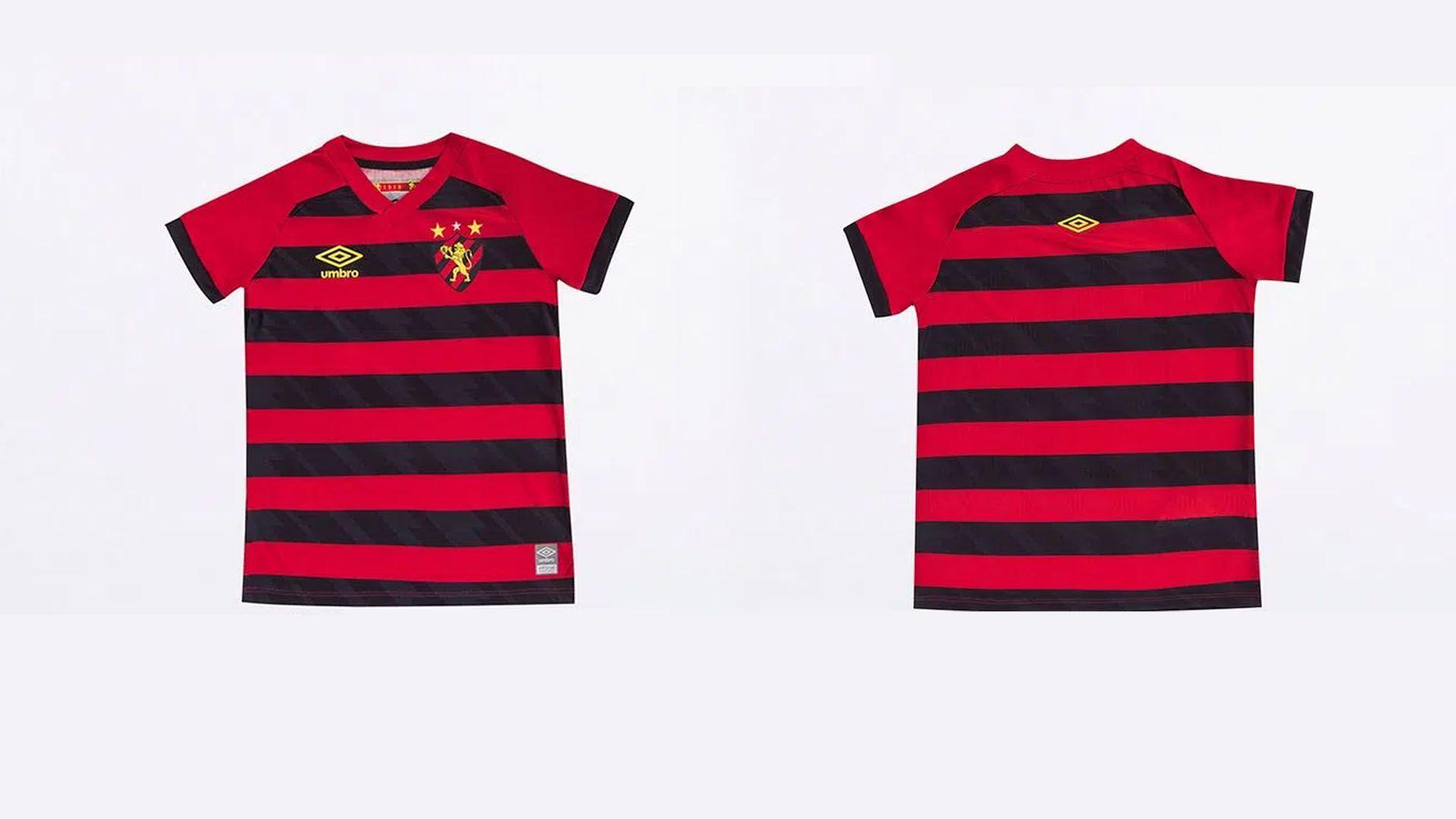 Camisa do Sport Infantil 2021 Umbro Jogo 1 (Imagem: Divulgação/Umbro)