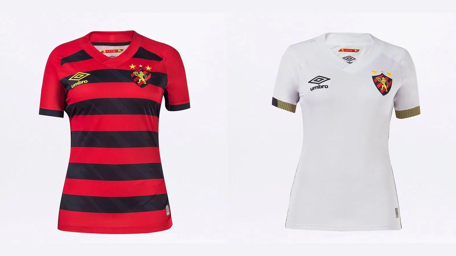Camisa do Sport Feminina 2021 Umbro Jogo 1 e 2 (Imagem: Divulgação/Umbro)