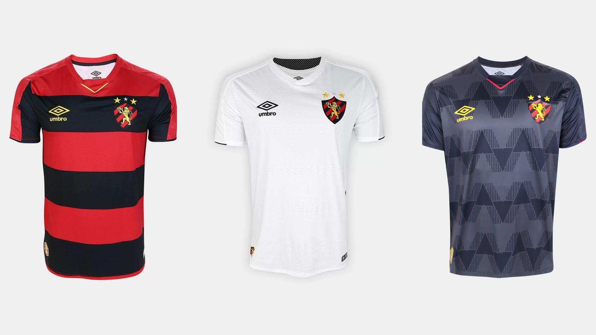 Camisa do Sport 2019 Umbro Jogo 1, 2 e 3 (Imagem: Divulgação/Umbro)