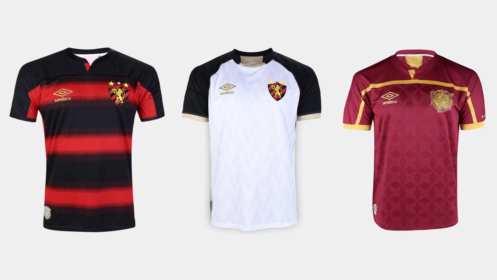 Camisa do Sport 2020 Umbro Jogo 1, 2 e 3 (Imagem: Divulgação/Umbro)