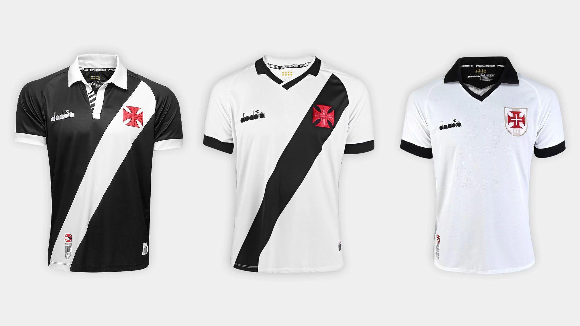 Camisa do Vasco 2019 Diadora Jogo 3 (Imagem: Divulgação/Diadora)