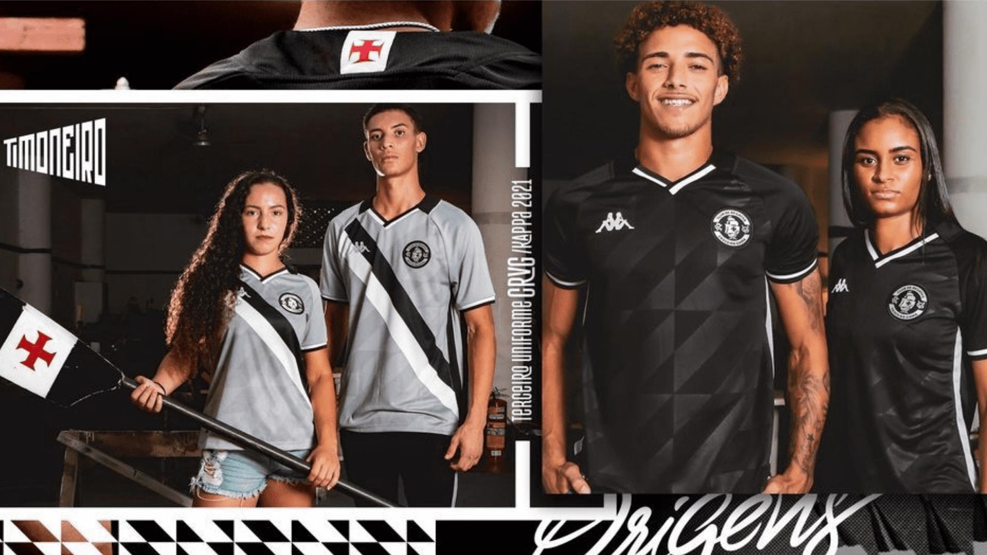 Conheça os modelos de camisa do Vasco para comprar em 2021! (Imagem: Divulgação/Kappa)
