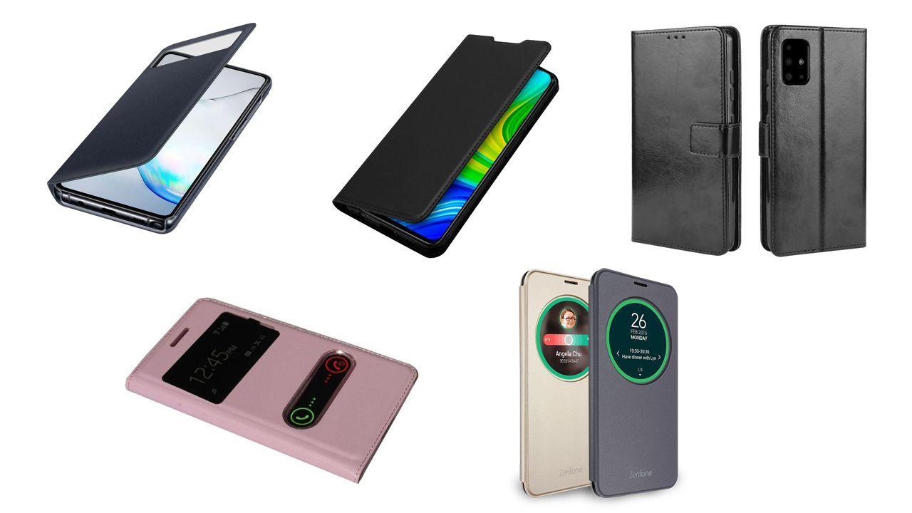 Diferentes modelos de capinhas de celular flip (Foto: Divulgação)