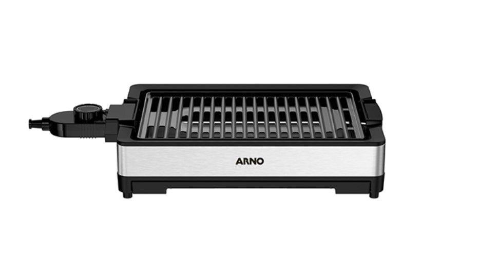 A churrasqueira elétrica Arno é feita em inox, sendo muito resistente. (Imagem: Reprodução, Arno)