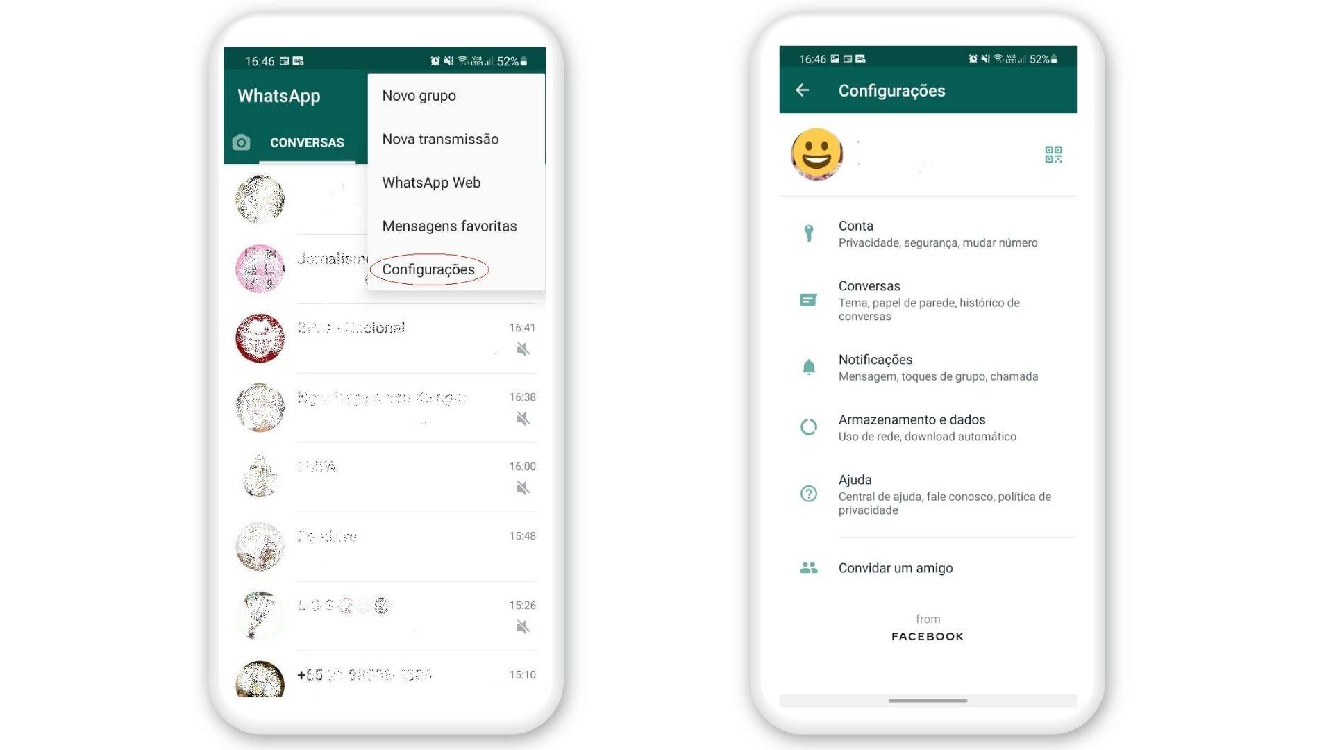 Como deixar o WhatsApp preto no Android: ative o modo escuro direto do app (Foto: Arte / Zoom)