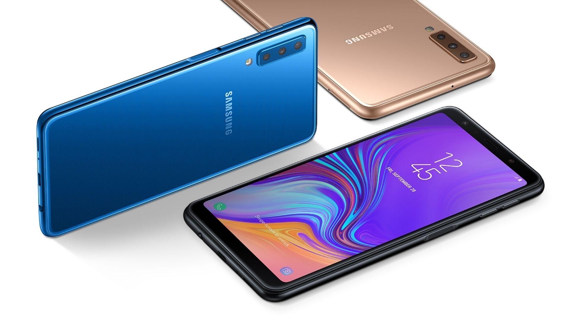 Samsung A7 está disponível em três opções de cores (Foto: Divulgação/Samsung)