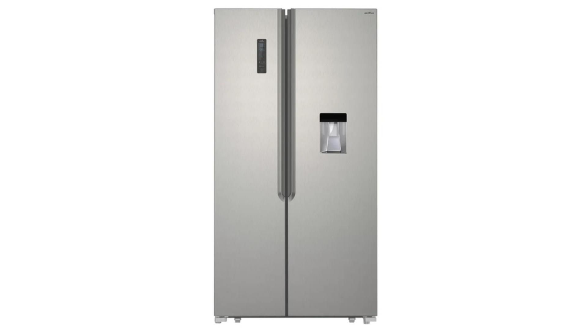 A geladeira Britânia é mais compacta que a maioria das Side By Side do mercado. Confira abaixo a ficha técnica! (Imagem: Divulgação/Britânia)