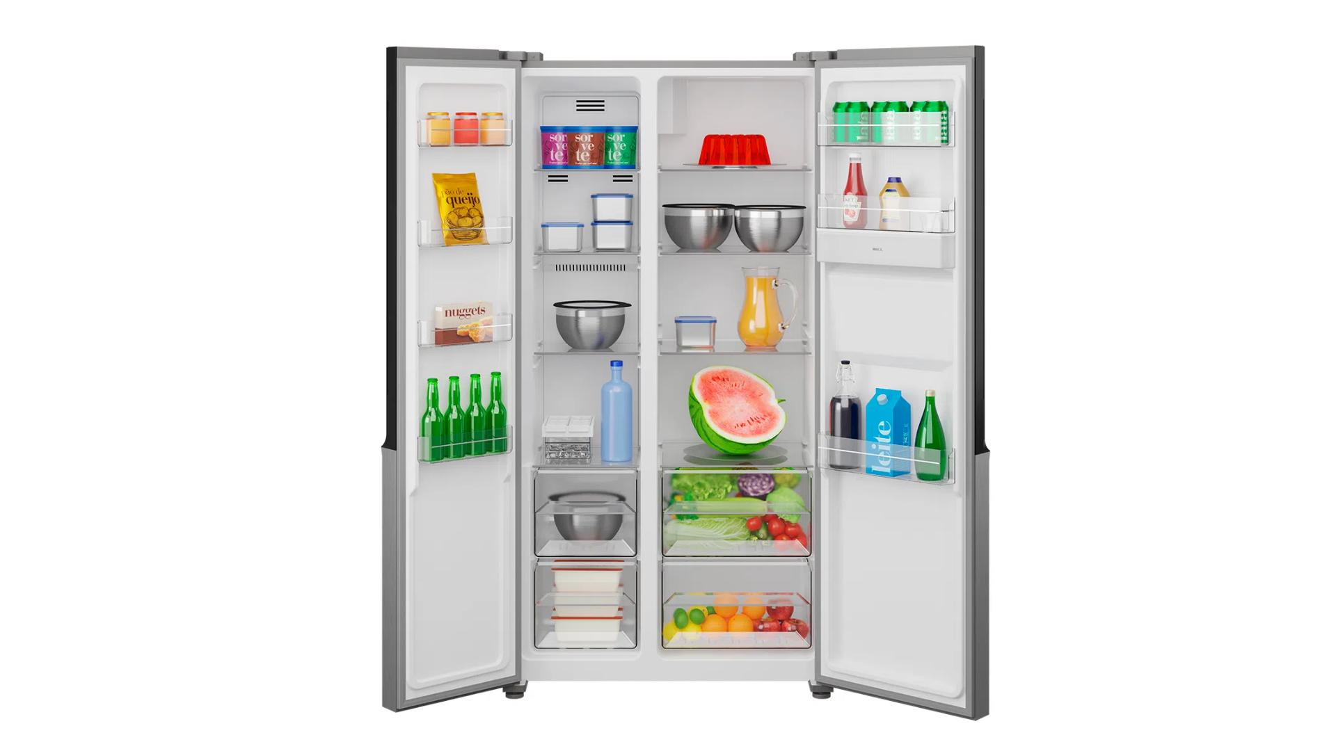 A geladeira Britânia BRF533ID chega com 434 litros de capacidade total. (Imagem: Divulgação/Britânia)