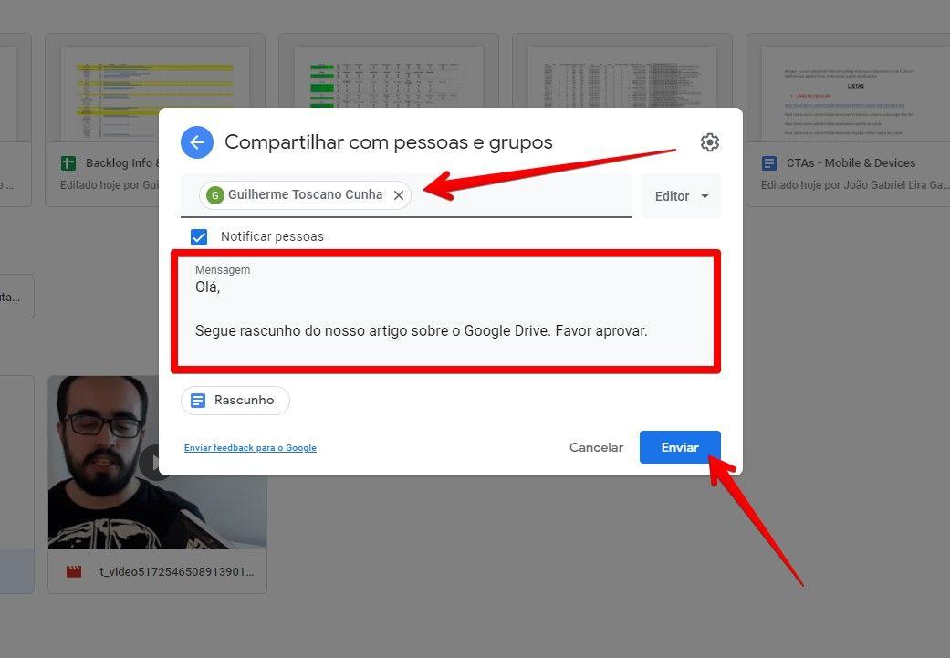 Você pode usar o Google Drive para compartilhar arquivos com sua equipe de trabalho (Fonte: Reprodução/Filipe Salles)