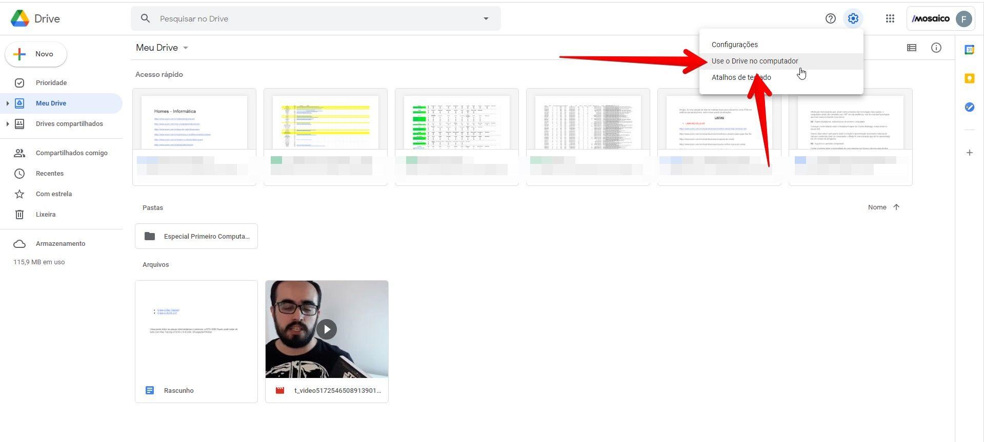 Ao clicar nessa opção, você será encaminhado à tela de download do Google Drive (Fonte: Reprodução/Filipe Salles)