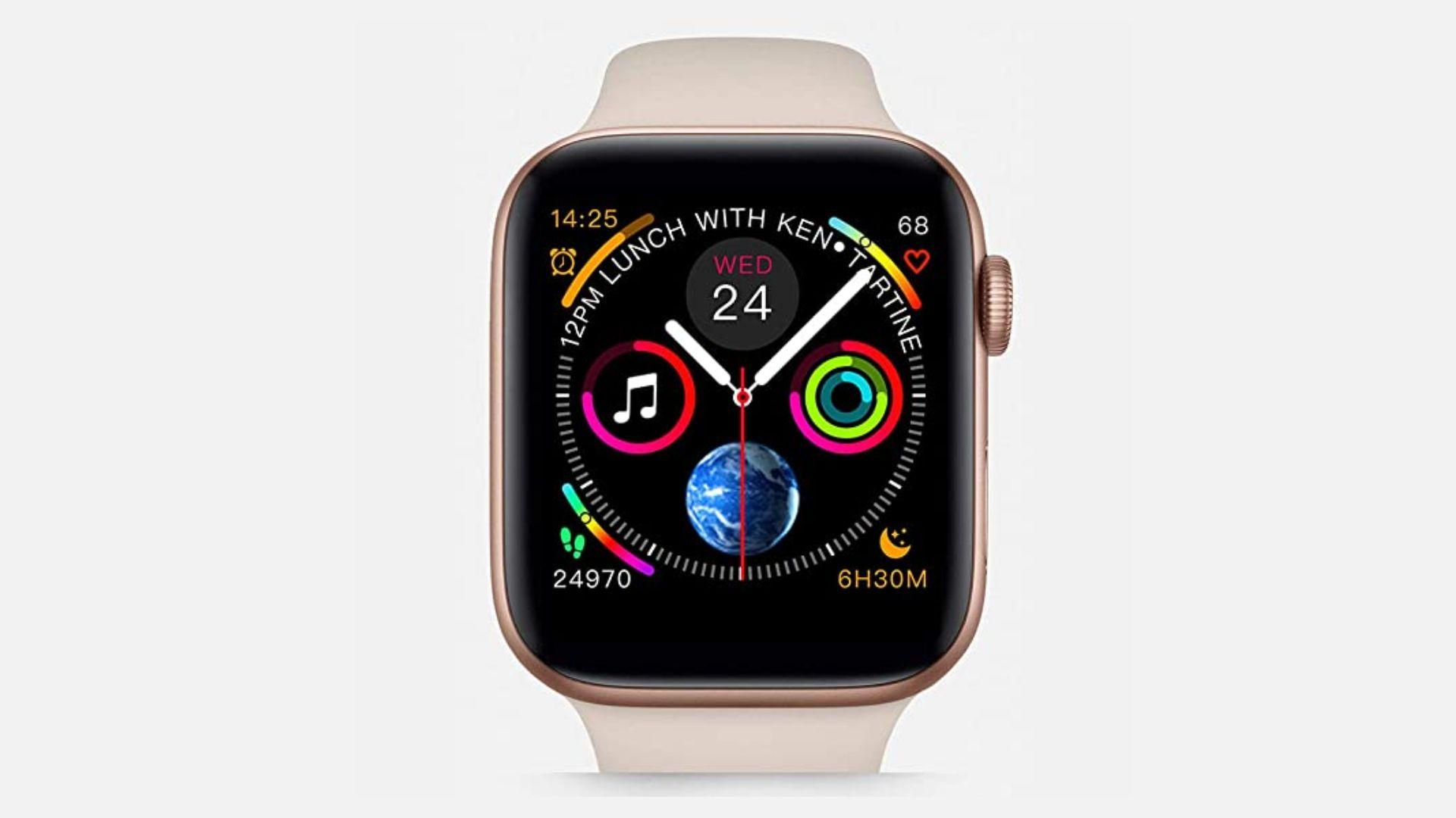 Smartwatch Iwo 8 tem tela colorida e design que imita o Apple Watch Series 4 (Foto: Divulgação/Iwo)