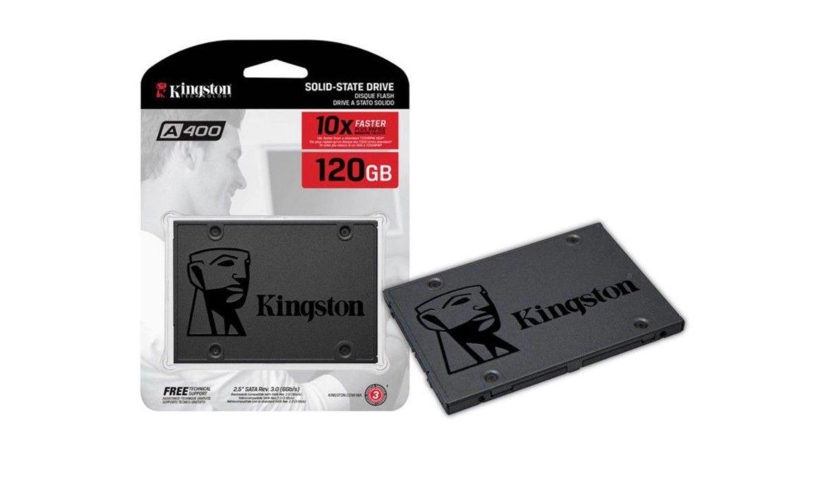 O mais simples da lista, o A400 ainda é de uma das melhores marcas de SSD (Fonte: Divulgação/Kingston)