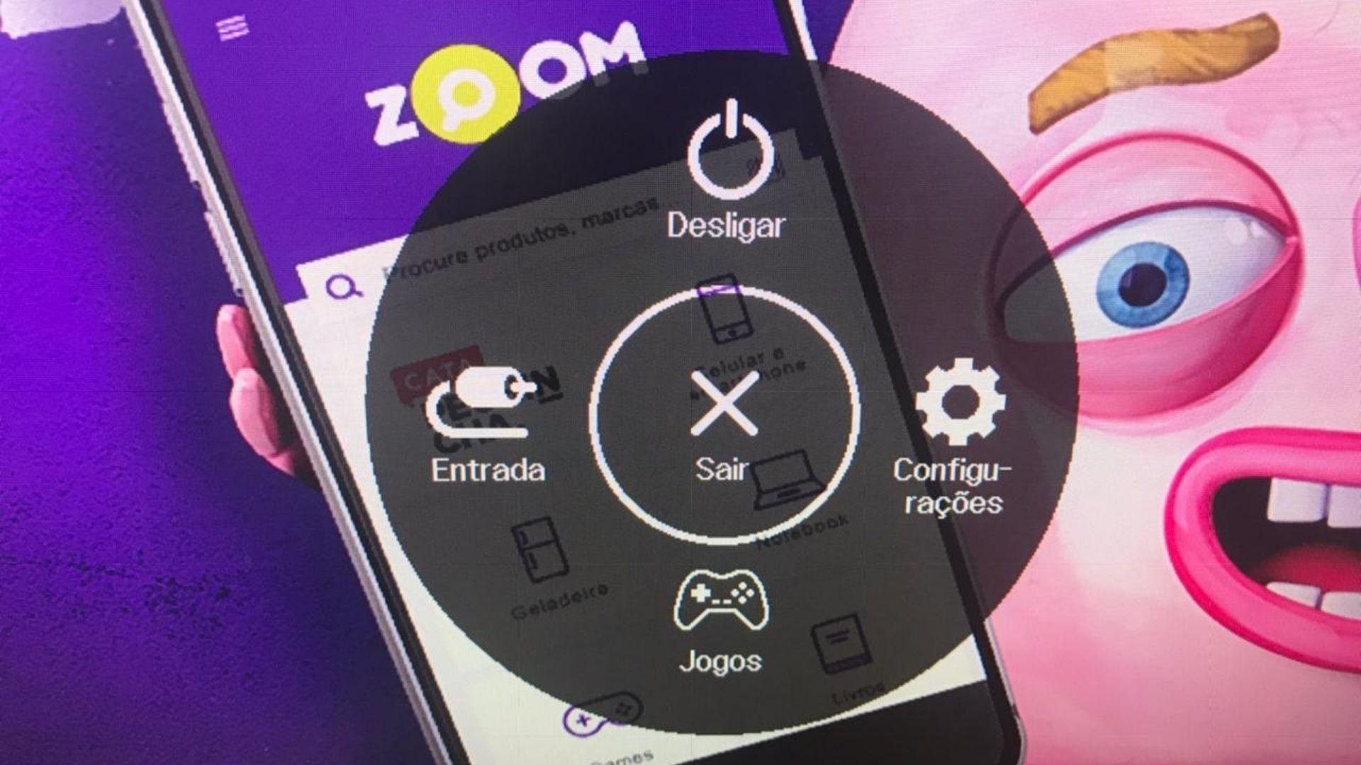 Apertando o botão, esse menu de opções é apresentado na tela (Foto: Guilherme Toscano)