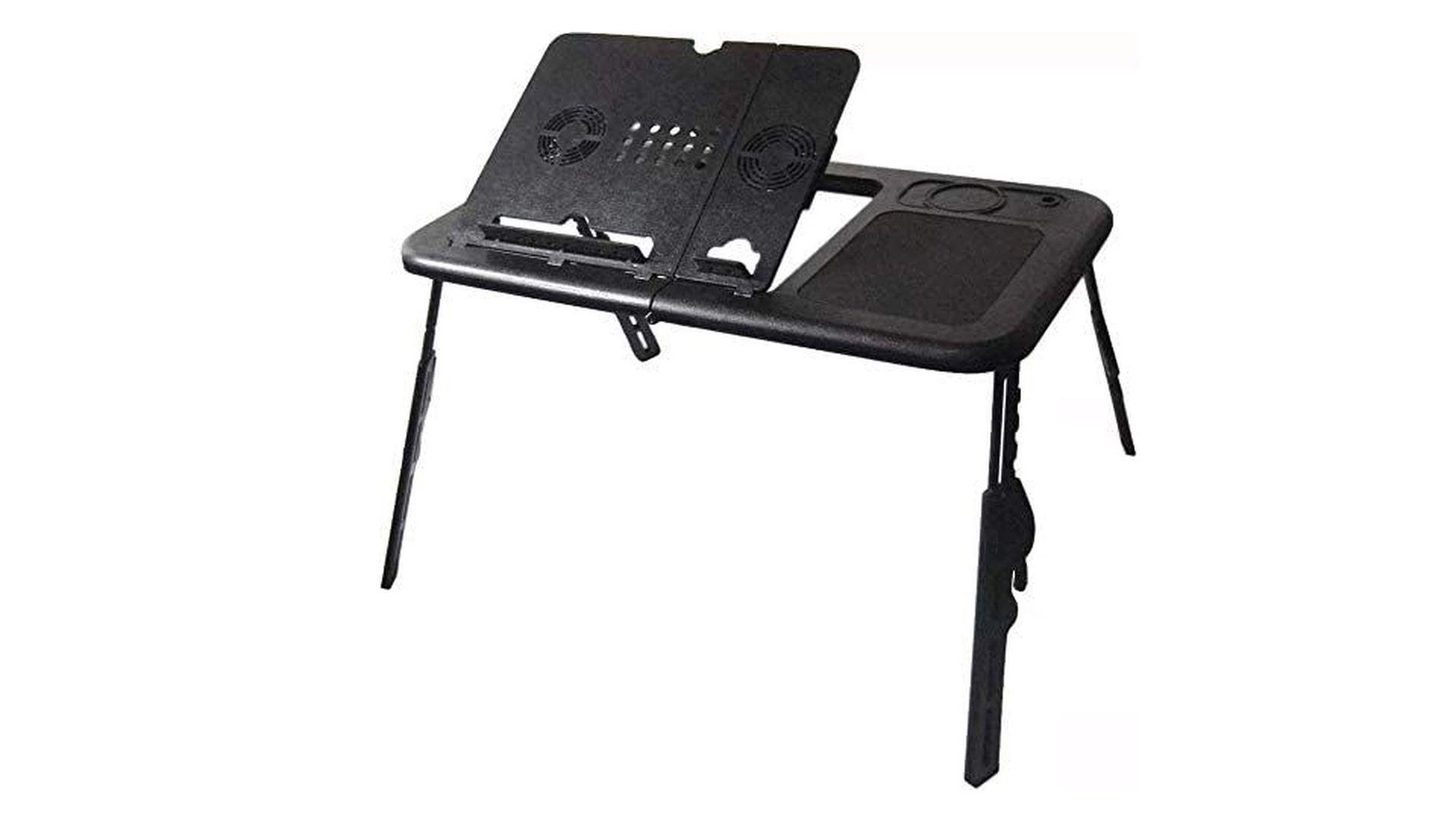 Uma mesa de colo dobrável e ideal para a rotina diária (Fonte: Reprodução)