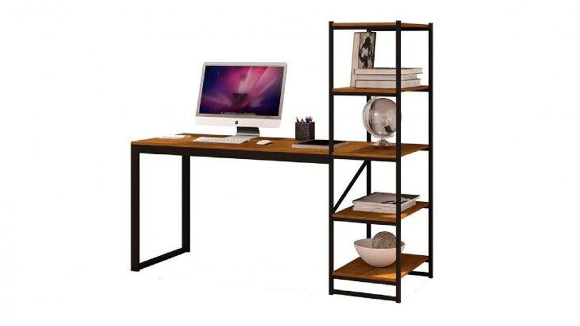 A escrivaninha da Innovare Yescasa contribui com a organização no home-office (Fonte: Reprodução)