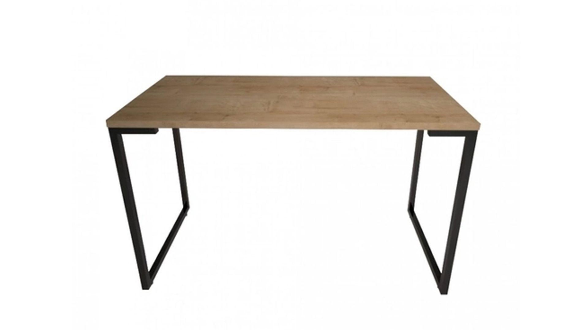 Uma mesa para notebook versátil e com estilo industrial (Fonte: Reprodução)