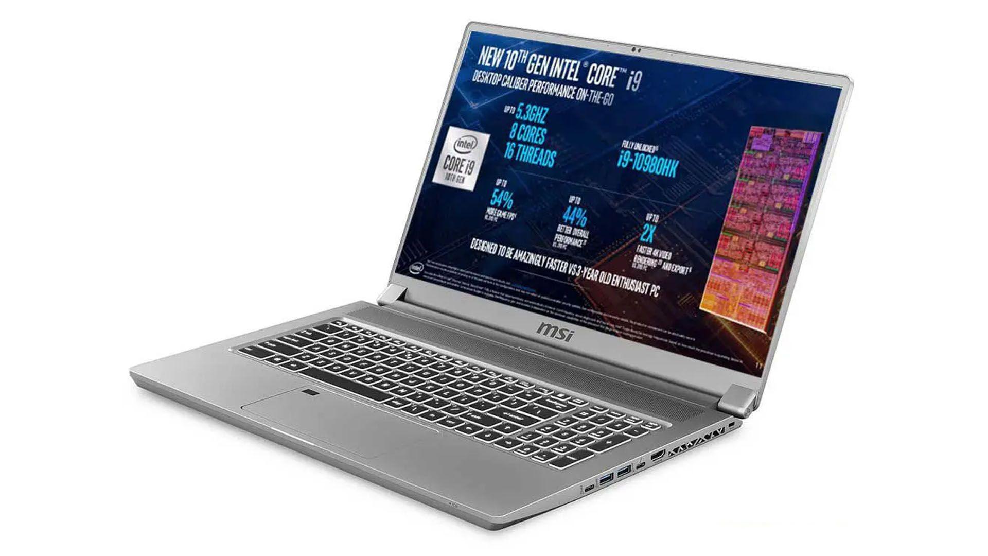O MSI WS75 é um notebook Core i9 que tem incríveis 64GB de memória RAM (Foto: Divulgação/MSI)