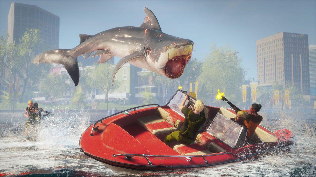 O violento Maneater chega consoles e PC em 25 de maio com um tubarão especializado em causar caos e destruição (Reprodução: Steam)