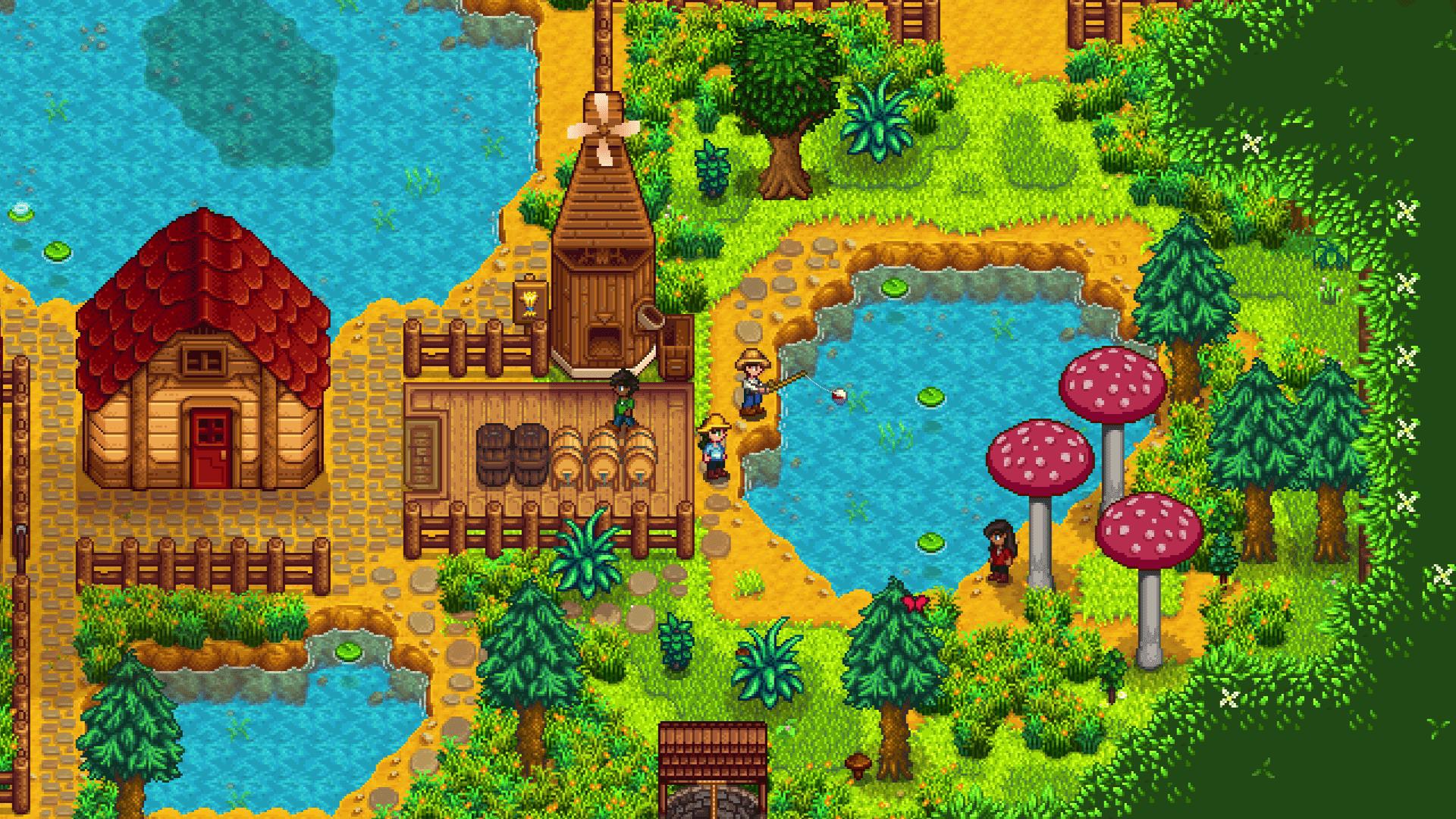 Você pode jogar Stardew Valley sozinho ou chamar os amigos para ajudar na sua fazenda (Foto: Divulgação/Stardew Valley)