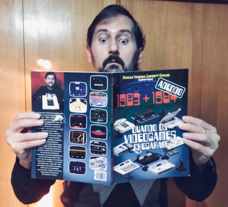 Marcus Vinícius Garret Chiado viveu a era brasileira da informática nos anos 1980 e é autor dos livros que retratam a chegada dos videogames no Brasil (Foto cedida por Marcus Vinicius Garret Chiado)