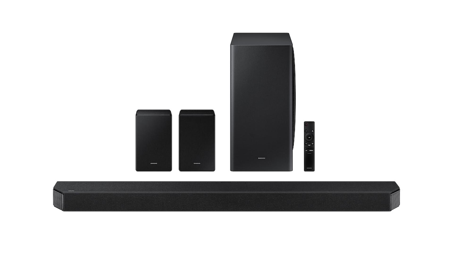 Conheça todos os recursos da Soundbar Samsung Q950A! (Imagem: Divulgação/Samsung)
