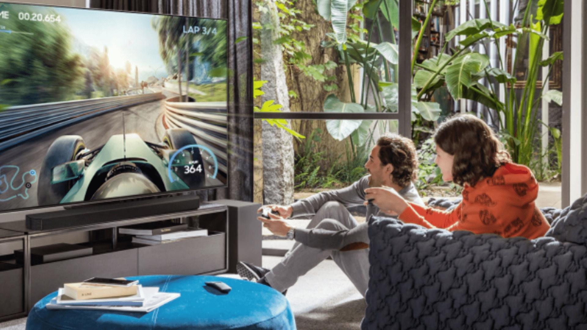 O modo Game Pro está entre os diferenciais da soundbar Samsung Q950A. (Imagem: Divulgação/Samsung)