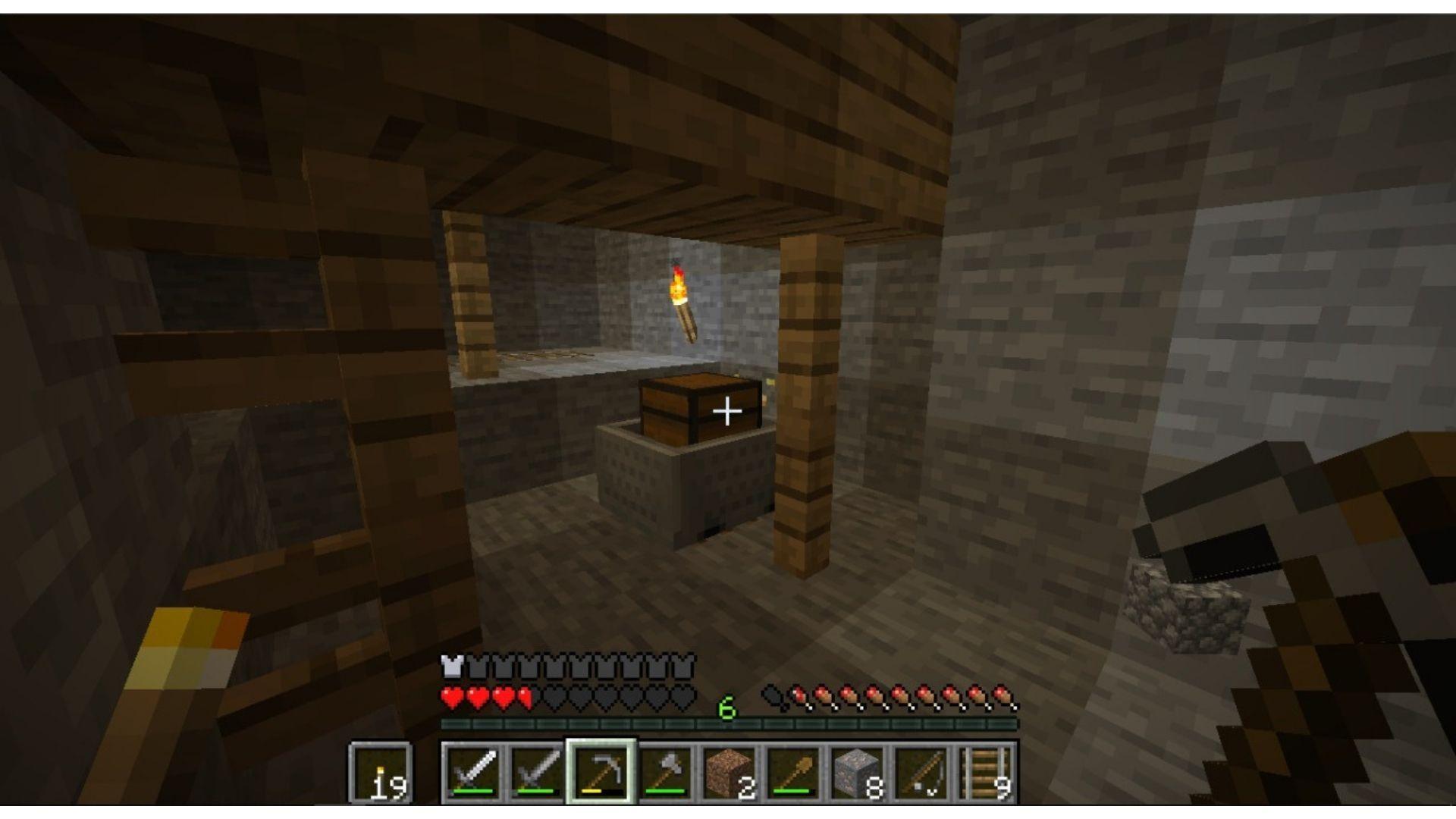 Os baús espalhados pelo jogo são a principal forma de adquirir uma sela no Minecraft (Foto: Reprodução/Úrsula Gomes)