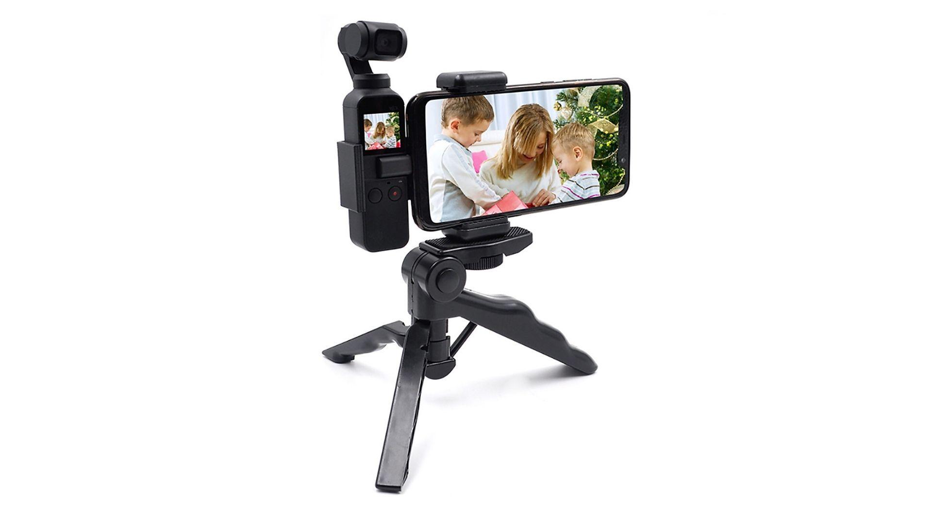 Tripé para celular com estabilizador é ideal para gravação de vídeos (Foto: Divulgação)