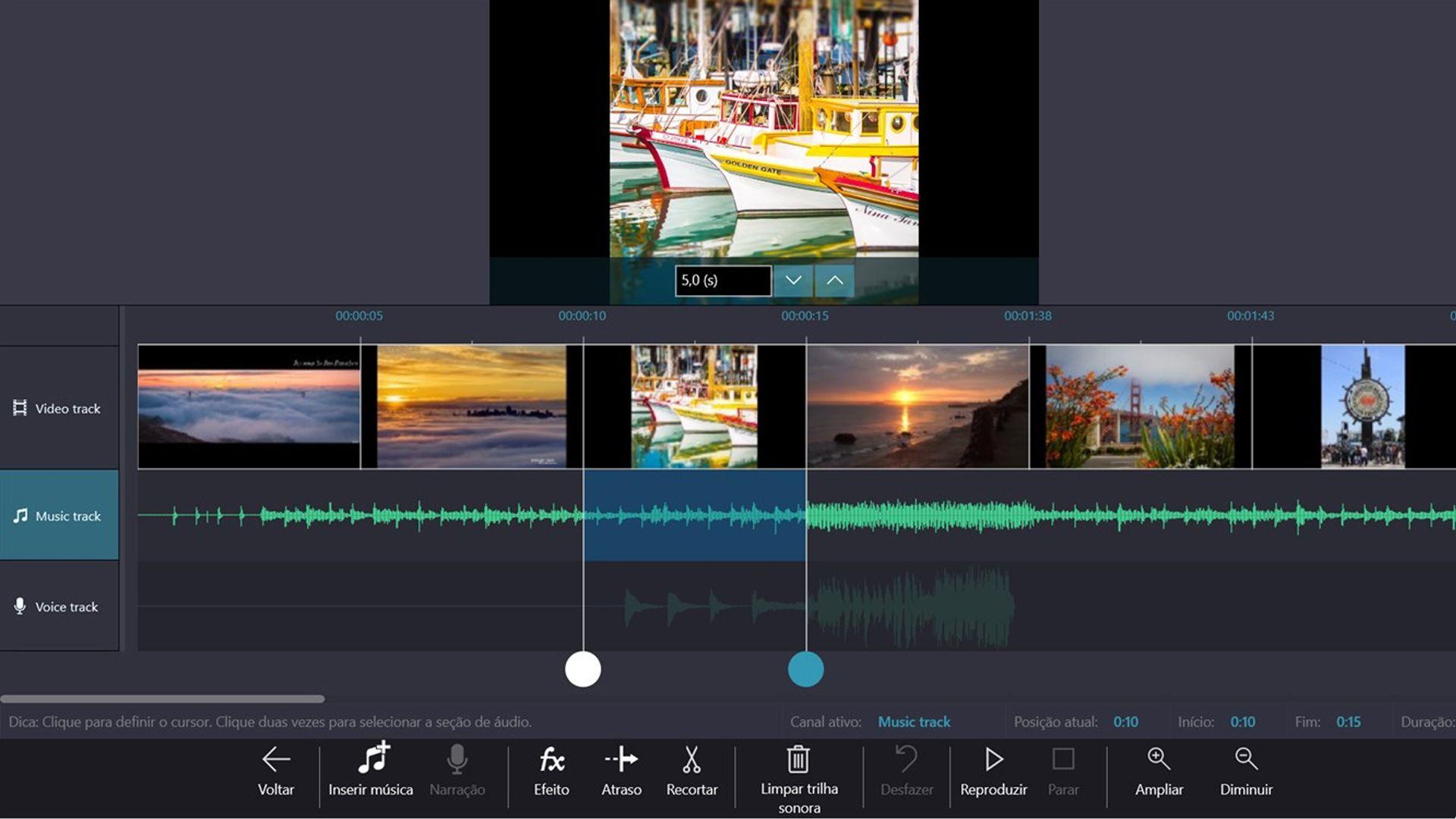 O Windows Movie Maker é um editor de vídeo grátis básico para ajustes simples (Fonte: Reprodução)