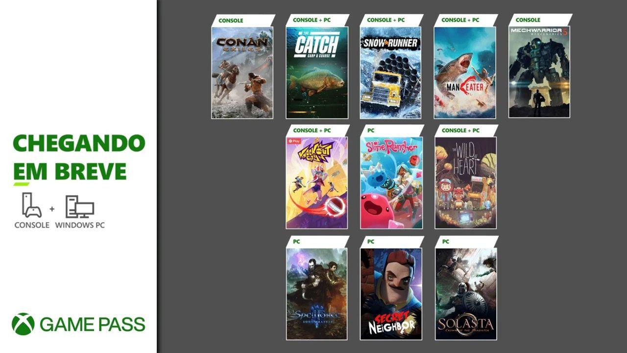 Xbox Game Pass recebe The Wild at Heat, SnowRunner, Knockout City, Conan Exiles, Maneater e mais na segunda metade de maio (Reprodução: Xbox Wire)