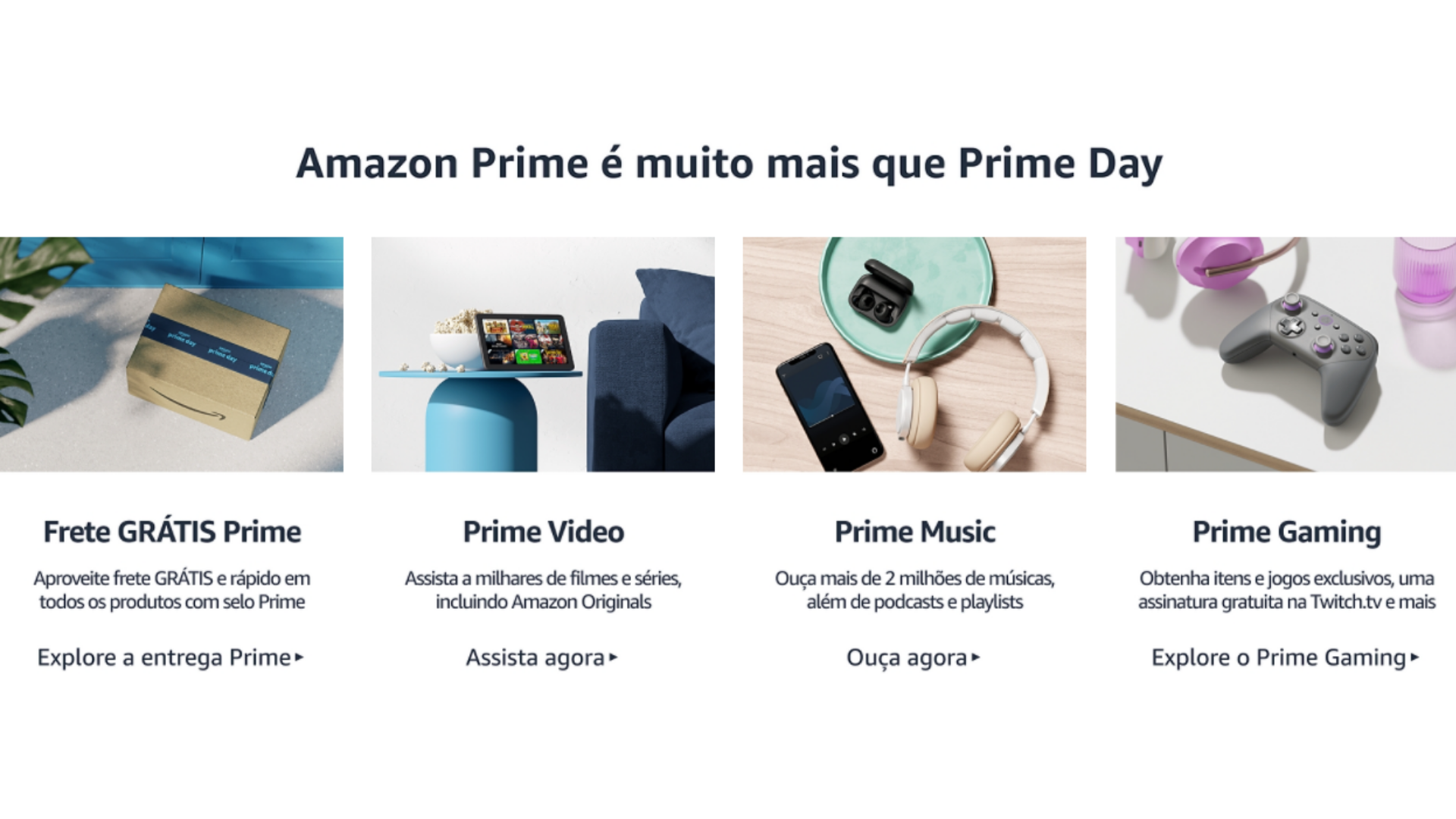 Assinar o Amazon Prime garante frete grátis e acesso aos serviços da marca. (Imagem: Captura de tela/Amazon)