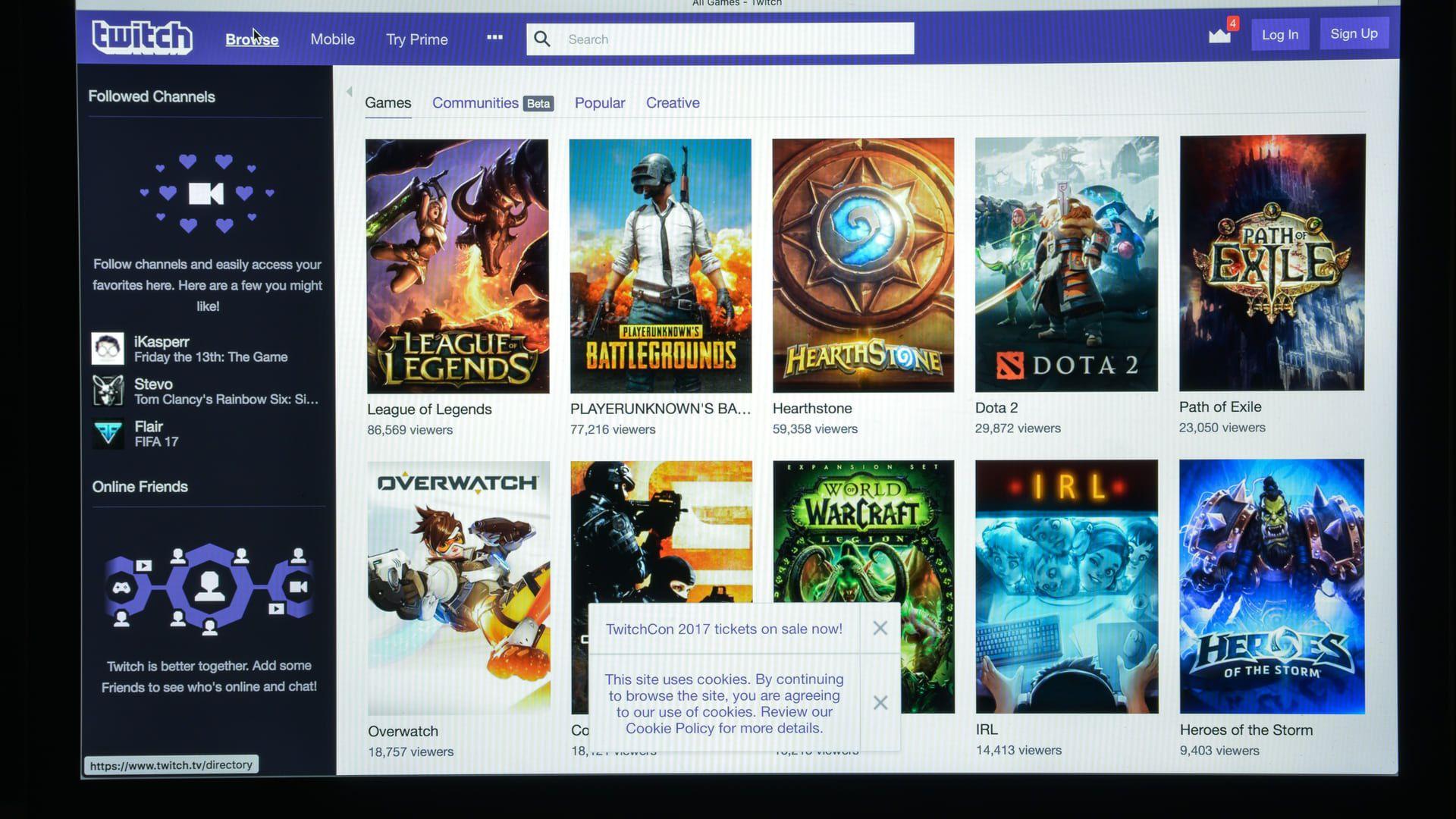 A Twitch é a plataforma de streaming de jogos que, agora, pode ser baixada na TV box. (Imagem: Reprodução/Shutterstock)