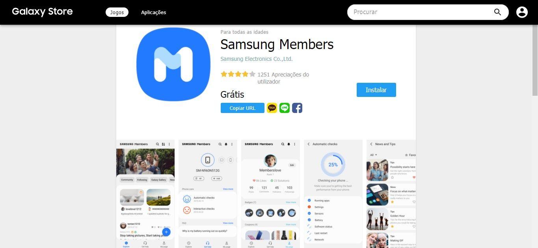 Se prefere agendar e acompanhar atendimentos pelo celular, o app Samsung Members pode ser a melhor opção para acessar a assistência Samsung (Fonte: Reprodução/Samsung)