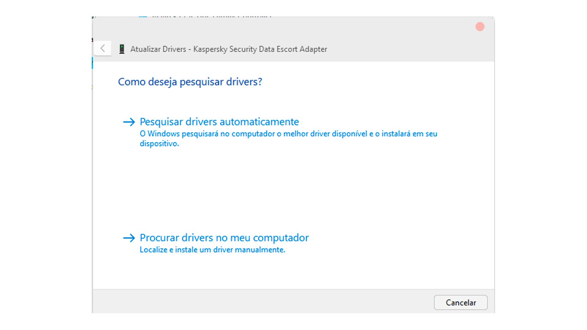 O sistema irá buscar automaticamente novos drivers (Foto/Hugo Iwaasa)