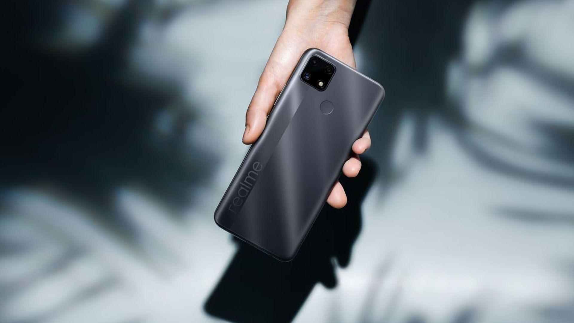 O Realme C25 tem bateria de 6.000 mAh. (Foto: Divulgação/Realme)
