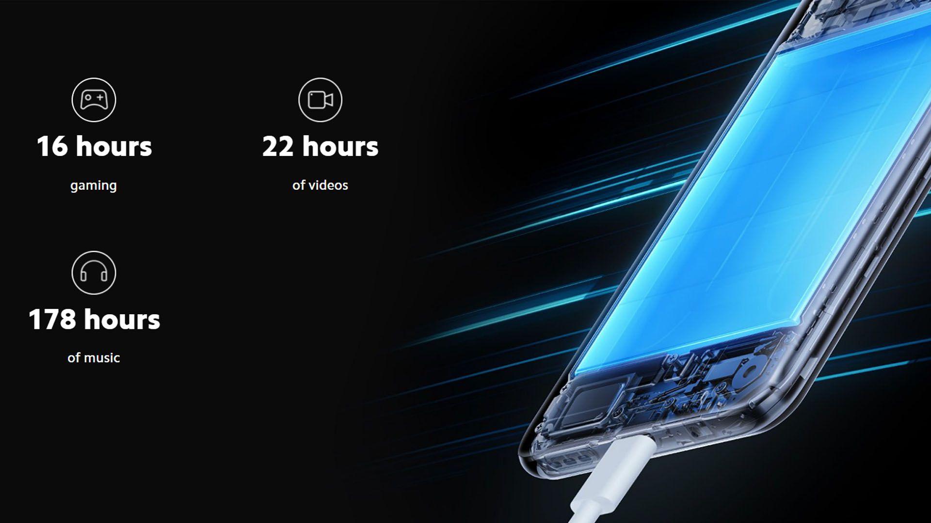 O Redmi Note 10 5G possui uma bateria de 5.000 mAh. (Foto: Divulgação/Xiaomi)