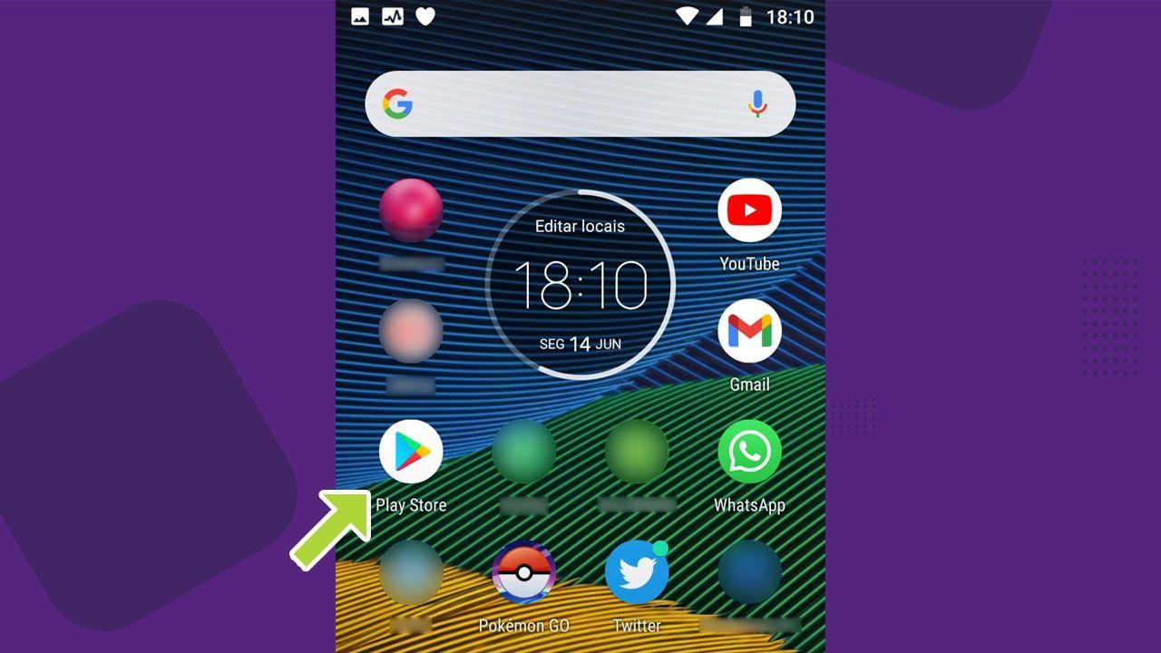 Abra a loja do Google Play para acessar as atualizações dos apps (Reprodução: Redação Zoom)