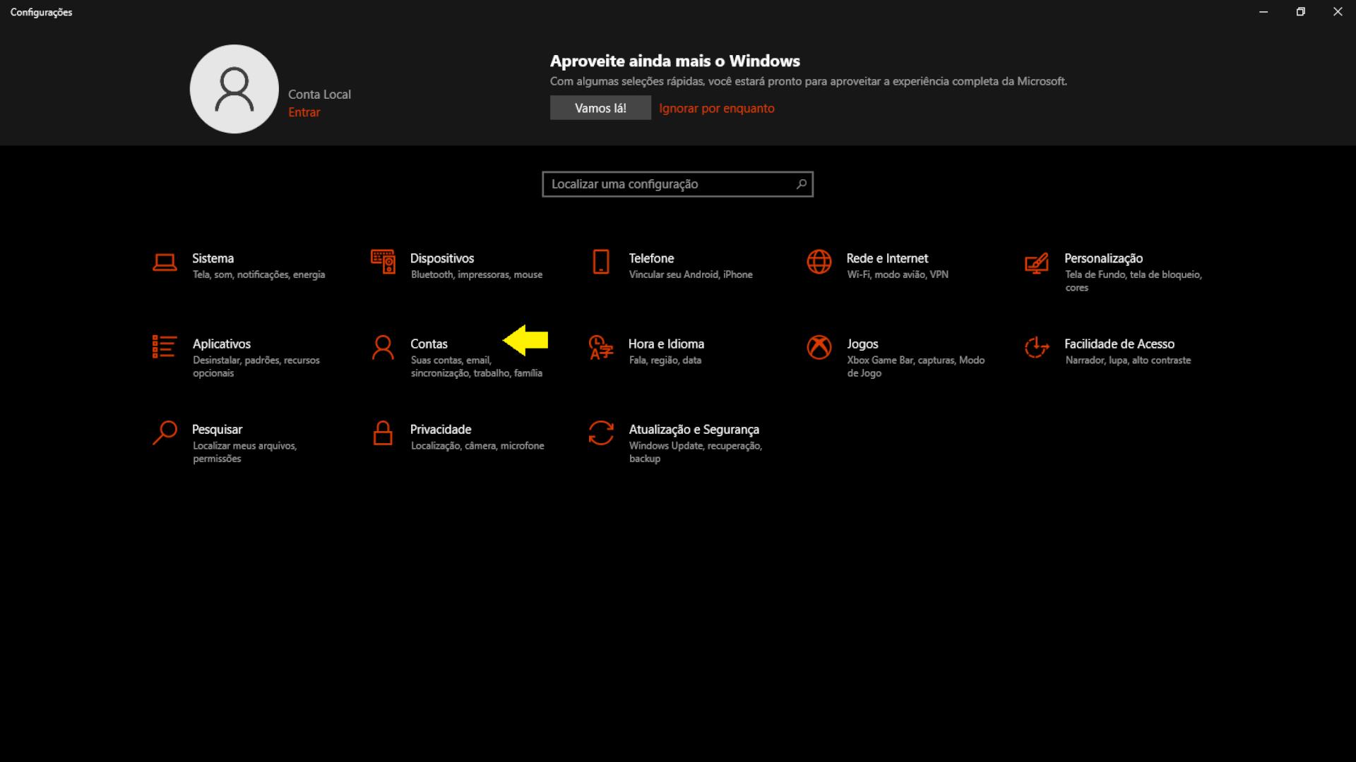 Você tem mais controle de acesso com contas do Windows (Foto: Reprodução/Zoom)