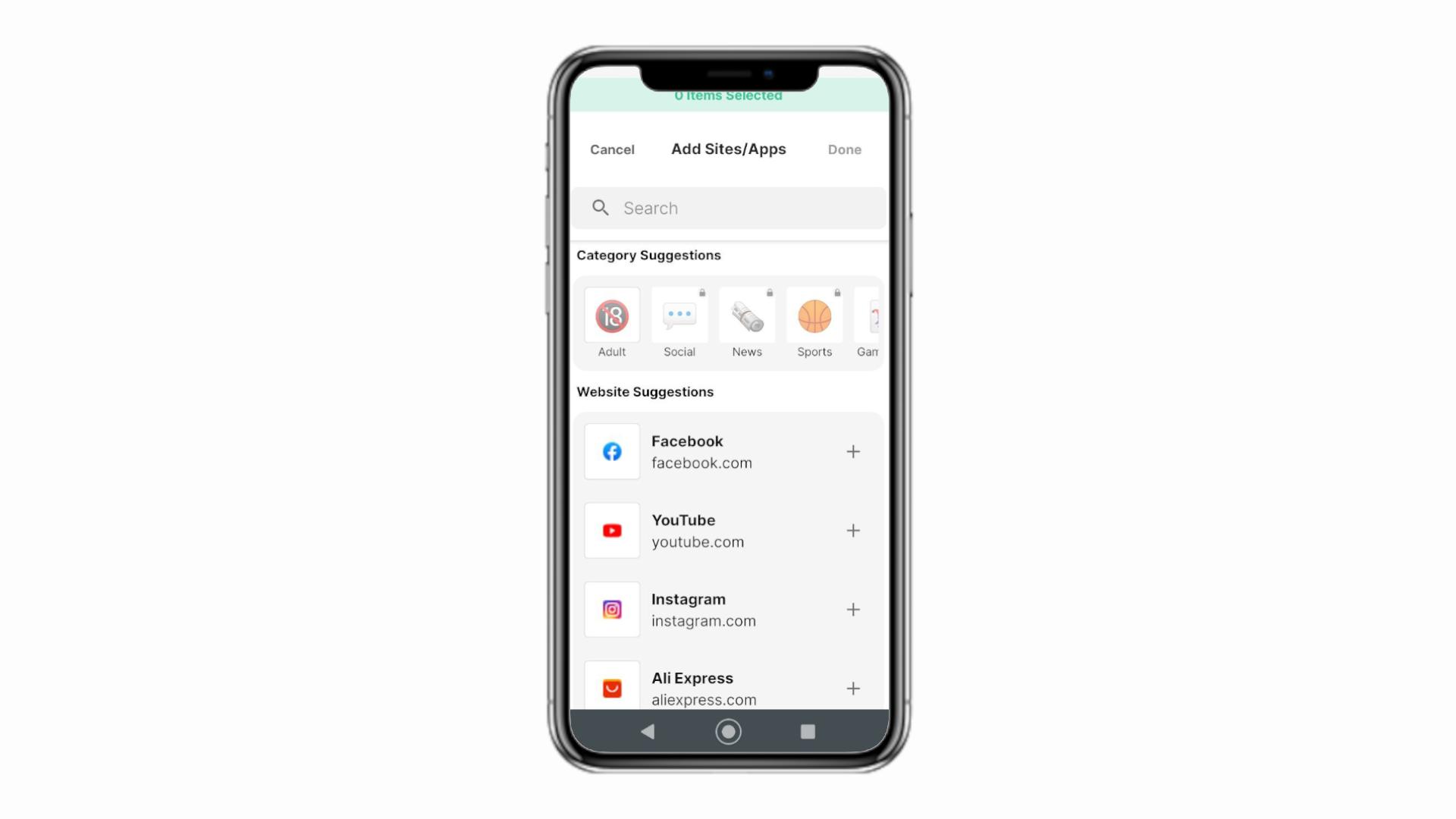 Com um aplicativo de bloqueio, é possível até bloquear outros apps (Foto: Reprodução/Zoom)