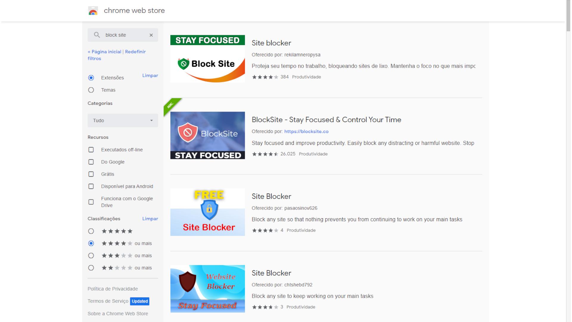 Existem várias extensões que bloqueiam sites (Foto: Reprodução/Zoom)