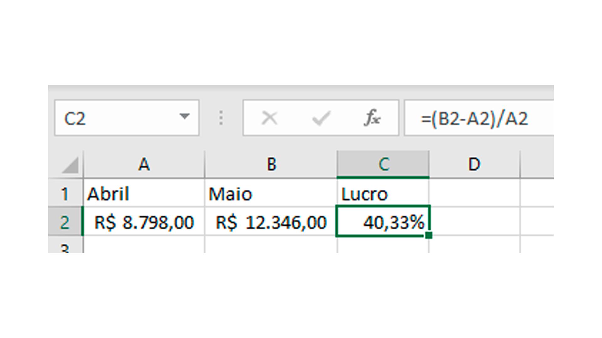 A fórmula permite saber o lucro de um mês para o outro (Foto/Hugo Iwaasa)