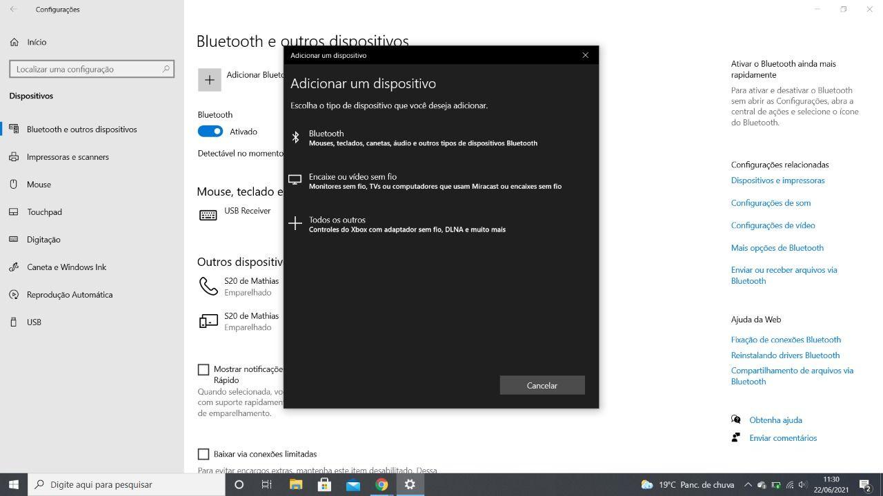 como conectar fone bluetooth no PC