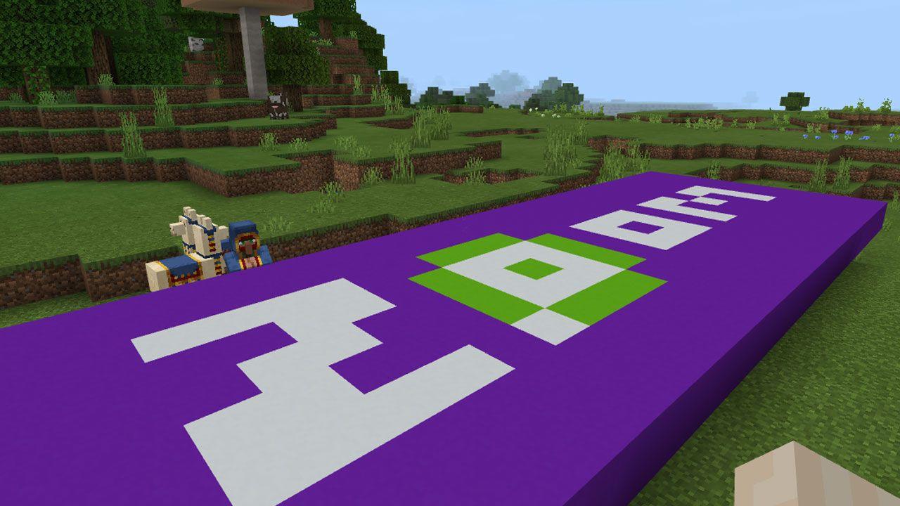 O bloco de concreto em Minecraft permite fazer construções com belas cores sólidas e que não são inflamáveis (Reprodução: Redação Zoom)