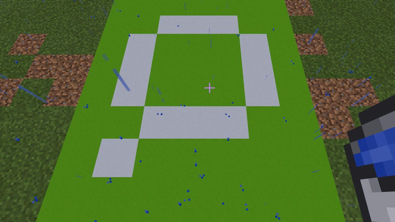 Após serem expostos à água, os blocos de pó de concreto se solidificarão em blocos de concreto (Reprodução: Redação Zoom)