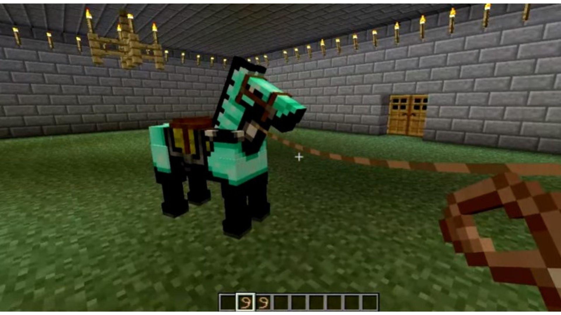 Depois de descobrir como fazer corda no Minecraft, você pode domesticar animais selvagens com mais facilidade (Foto: Reprodução/Youtube)