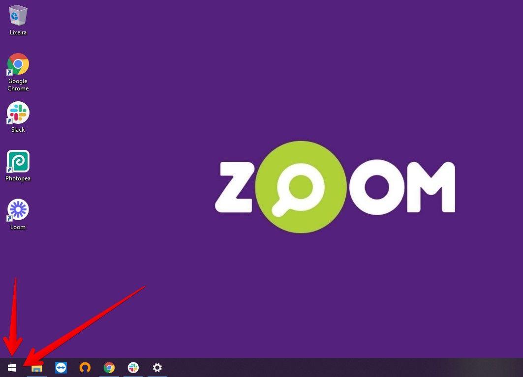 Abra o menu do Windows para começar a gravar tela do PC (Fonte: Reprodução/Zoom)